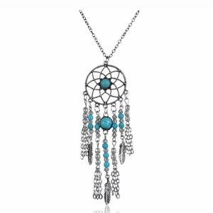 🌠Turquoise & Silver Dream Catcher Necklace🌠